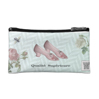 cosmetic bag with vintage shoe theme