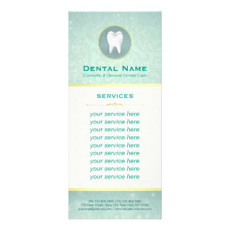 Cosmetic General Dentist Gold & Teal Service Menu