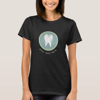Cosmetic & General Dentist Gold & Turquoise Damask T-Shirt