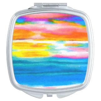 Cosmetic Mirror Summer Ocean Beach Sunrise