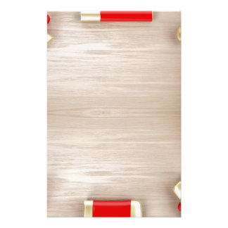 Cosmetic products on wooden table stationery