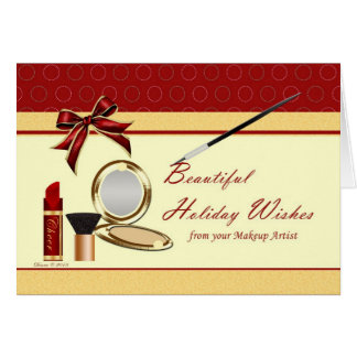 Cosmetics From Makeup Artist Holiday Card