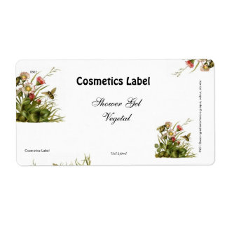 Cosmetics label