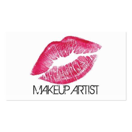 Cosmétologie de Cosmetologist de maquilleur élégan Modèles De Cartes De Visite