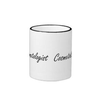 Cosmetologist Artistic Job Design Ringer Mug