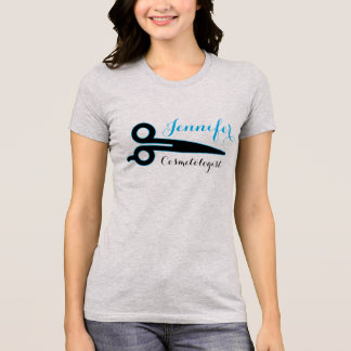 Cosmetologist, Beauty Industry Name Scissor Design T-Shirt