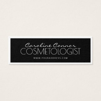 Cosmetologist Black & White Bordered Card
