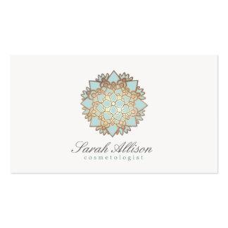 Cosmetologist Organic Skincare Spa and Salon Logo Business Card Template