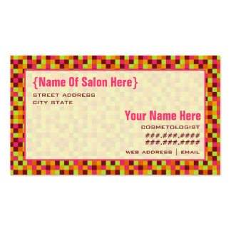 Cosmetologist Salon Appointment Squares Pack Of Standard Business Cards