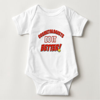 Cosmetologists job designs baby bodysuit