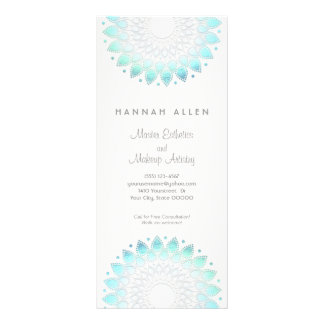 Cosmetology Elegant Aqua Spa and Salon Menu Rack Cards