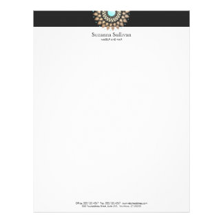 Cosmetology Logo Holistic Salon and Spa Black Letterhead