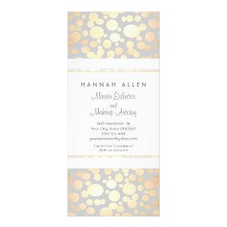 Cosmetology Spa and Salon Gold Circles Menu Rack Card Template
