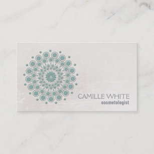 Bath and body business cards profile cards zazzle ca cosmetology teal circle ivory texture elegant spa business card reheart Choice Image