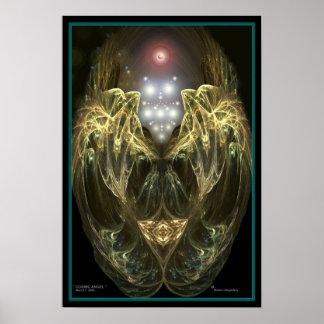 """ COSMIC ANGEL "" by Robert Singletary Poster"