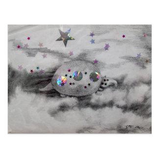 Cosmic Armadillo CricketDiane Art & Design Post Cards