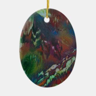 Cosmic Aurora Ceramic Ornament