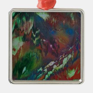 Cosmic Aurora Metal Ornament