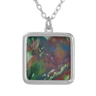 Cosmic Aurora Silver Plated Necklace