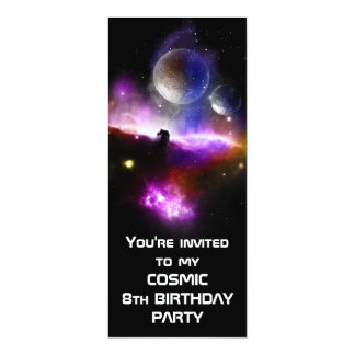 Cosmic Birthday invite slim version