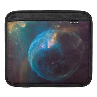 Cosmic Blue Bubble Nebula SpaceHD iPad Sleeve
