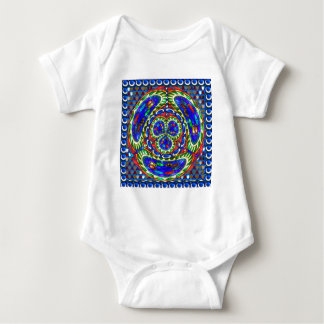 Cosmic Blue Spiritual Ghost Art by Navin Joshi Baby Bodysuit