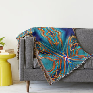 Cosmic Branches Super Nova Throw Blanket