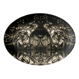 Cosmic Butterfly Embossing Art Porcelain Serving Platter