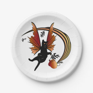 Cosmic Cat Acorn Paper Plate