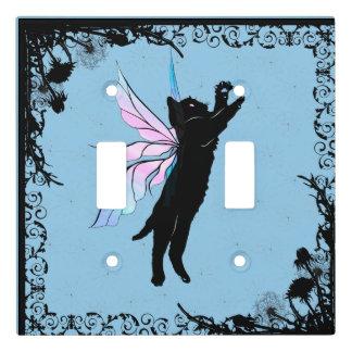 Cosmic Cat Dandelion Light Switch Cover