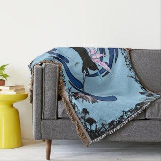Cosmic Cat Dandelion Throw Blanket