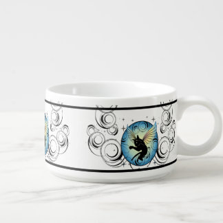Cosmic Cat Moon and Stars Bowl