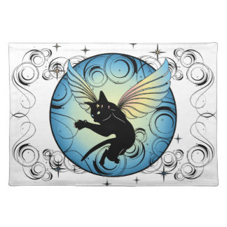 Cosmic Cat Moon and Stars Placemat