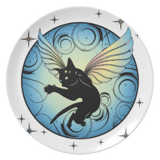 Cosmic Cat Moon and Stars Plate