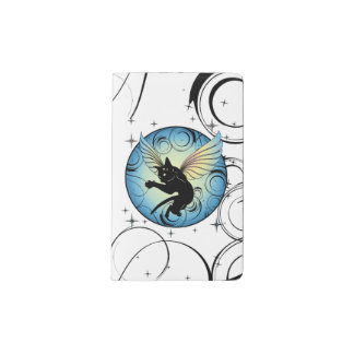 Cosmic Cat Moon and Stars Pocket Moleskine Notebook