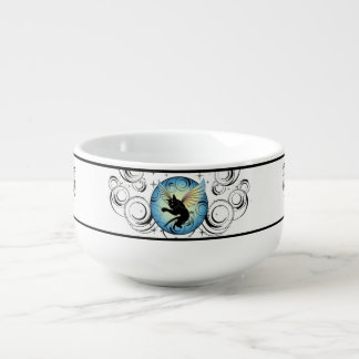 Cosmic Cat Moon and Stars Soup Mug