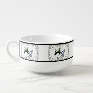 Cosmic Cat Snowflake Soup Mug