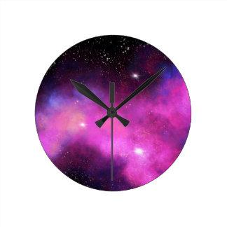 Cosmic Cerise Round Clock