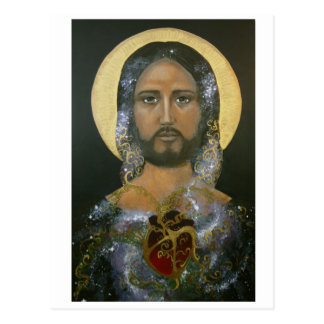 """Cosmic Christ"" (c)2015 Postcard"