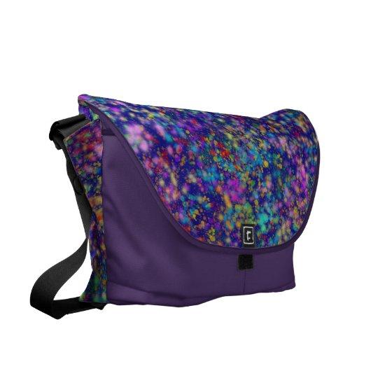 Cosmic Confetti Messenger Bag Purple