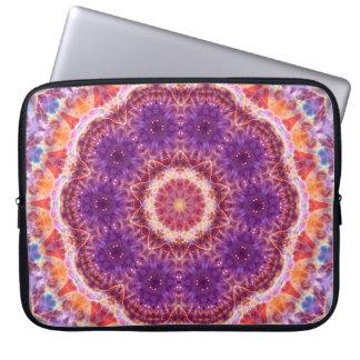 Cosmic Convergence Mandala Laptop Sleeve