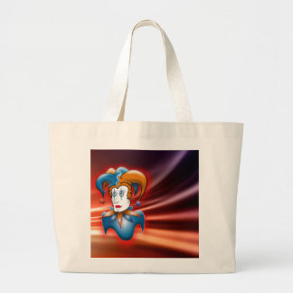 Cosmic Court Jester Large Tote Bag