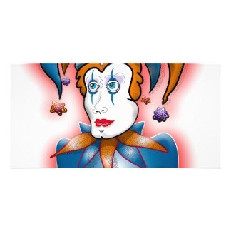 Cosmic Court Jester Photo Card Template