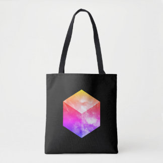 Cosmic Cube - Double Sided Black Tote Bag