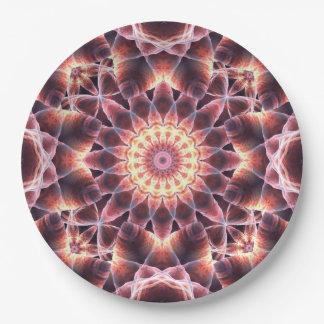 Cosmic Dance Mandala 9 Inch Paper Plate
