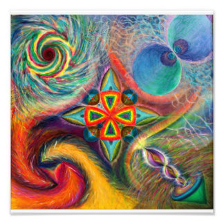 Cosmic Dance with the Sacred Chapel Photo Print