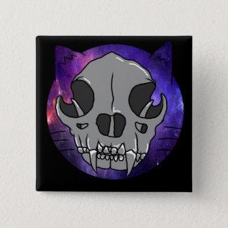 "Cosmic Deathcat ""button"" 2 Inch Square Button"