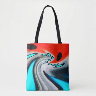 Cosmic distortion tote bag