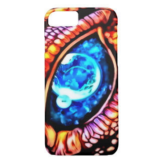 Cosmic Dragon Eye Airbrush Art iPhone 7 Case