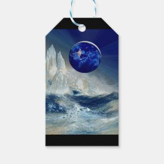 Cosmic Earth at Night and Thomas Moran Iceberg Gift Tags